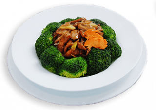Stir Fry Beef with Broccoli Flower